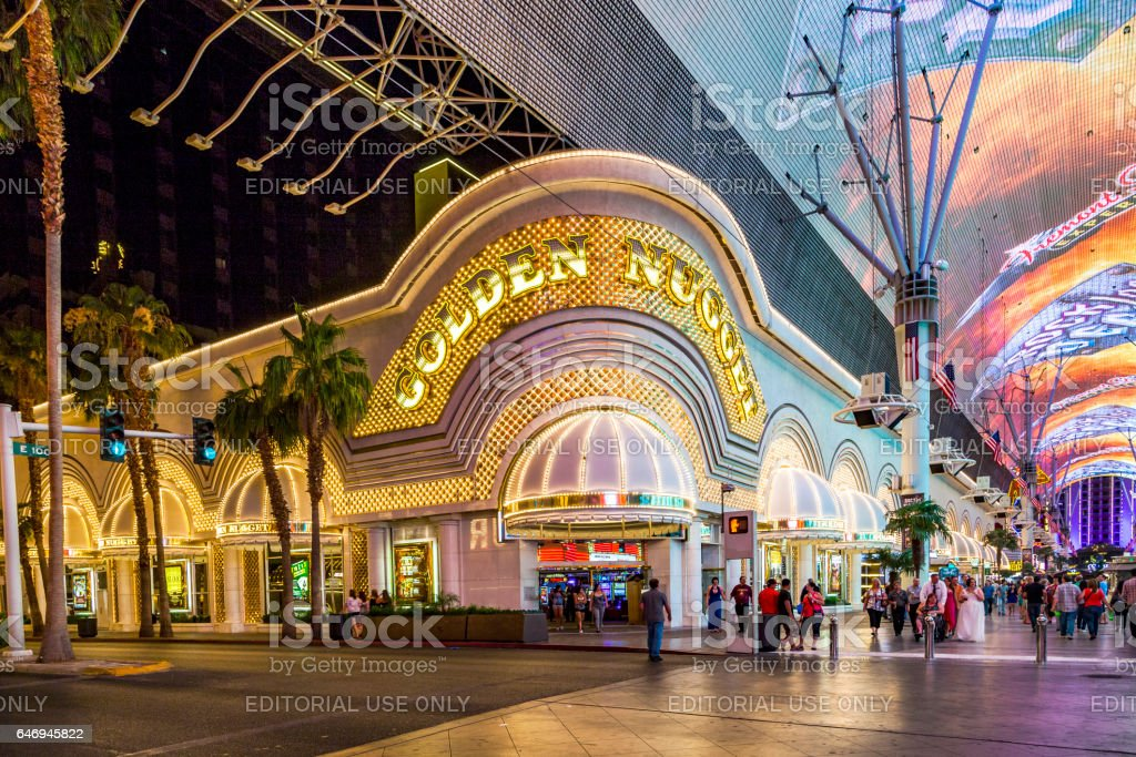 Golden Nugget hotel and casino in downtown Las Vegas stock photo