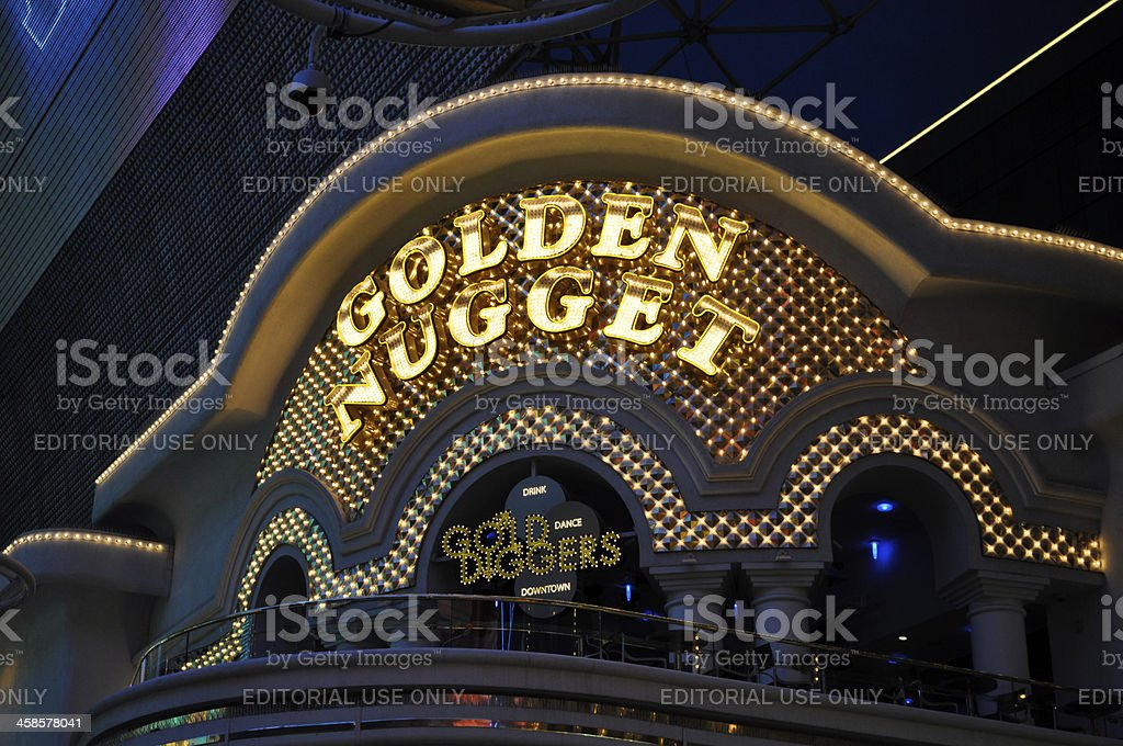 Golden Nugget Hotel and Casino, Las Vegas stock photo
