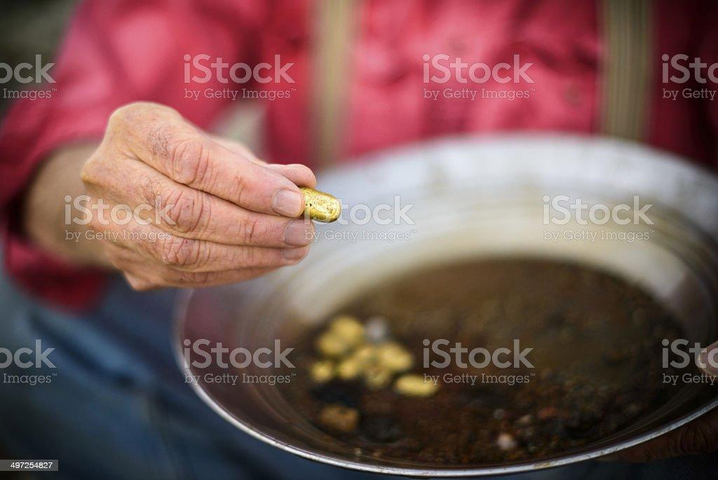 Golden Nugget stock photo
