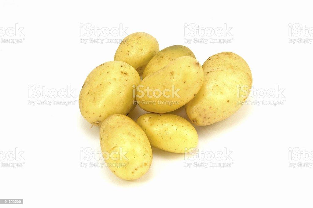 Golden nugget potatoes stock photo