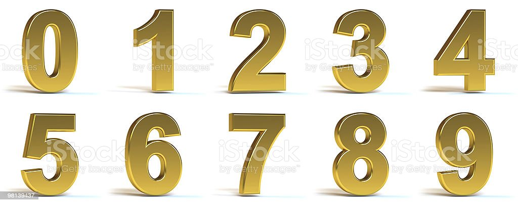 Golden Numbers royalty-free stock photo