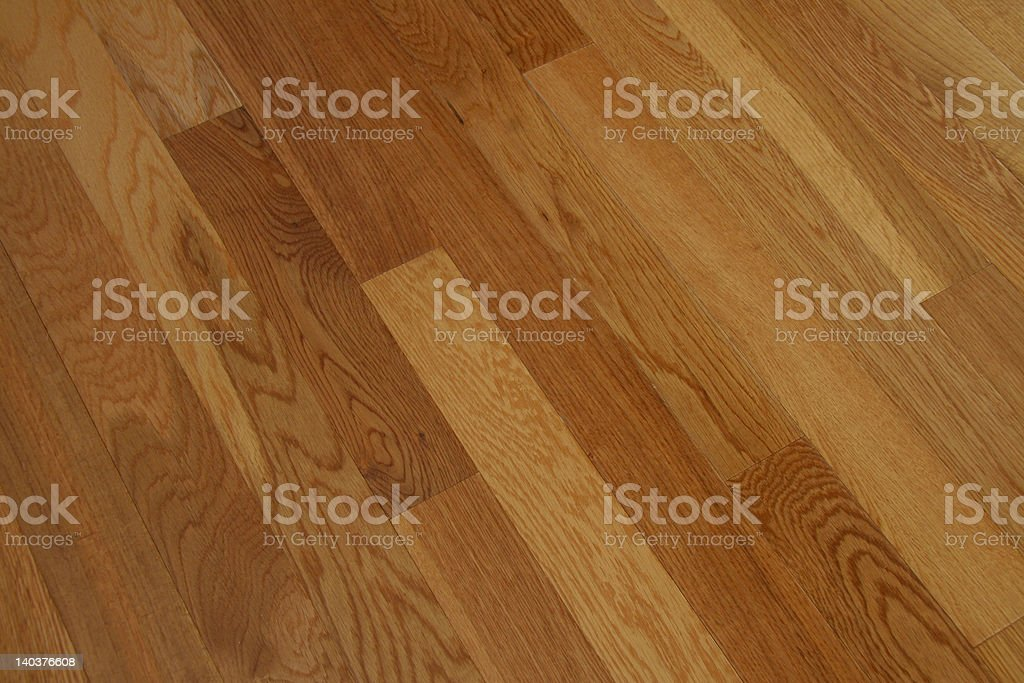 Golden Oak Hardwood Flooring stock photo
