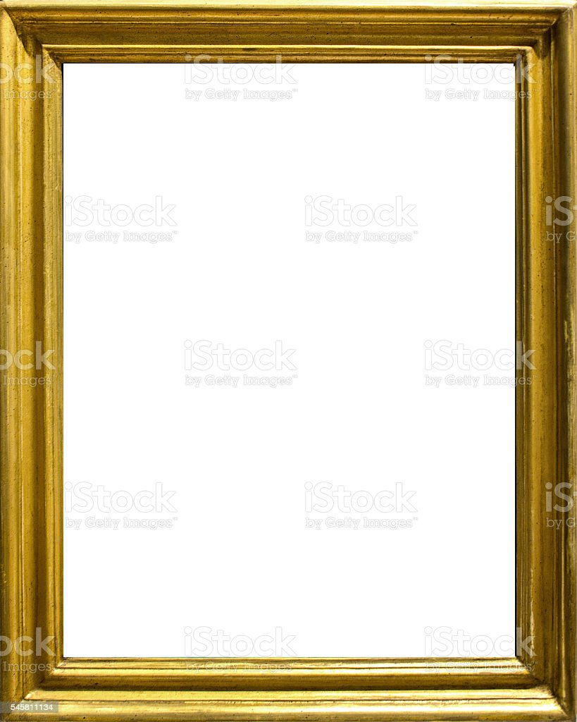 Golden Old Frame - intense yellow stock photo