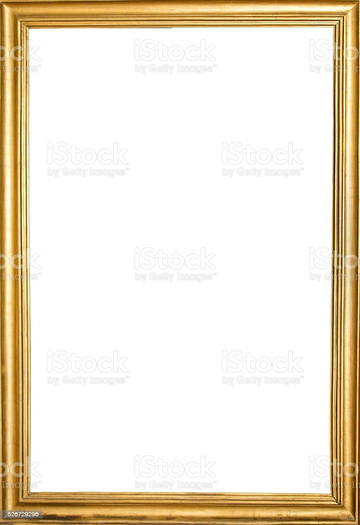 Golden Old Frame stock photo