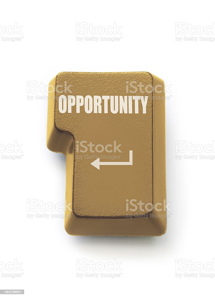 Golden opportunity royalty-free stock photo