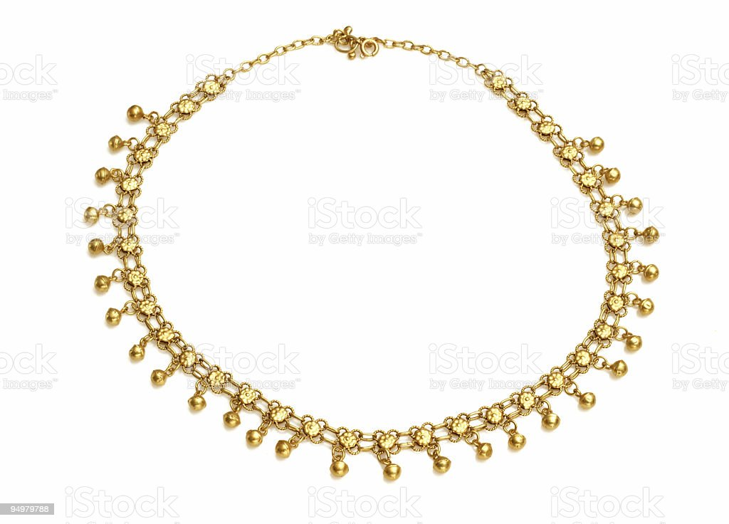 Golden Oriental Necklace royalty-free stock photo