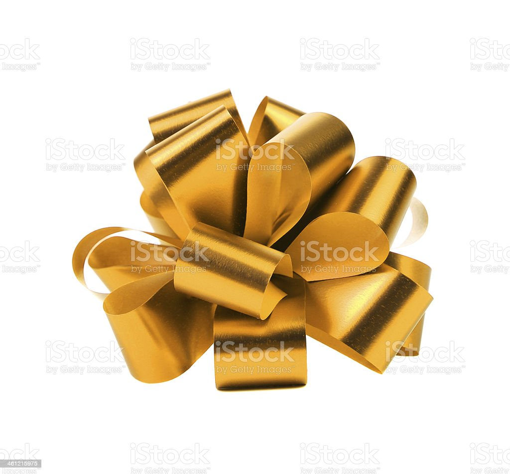 Golden packaging band. stock photo