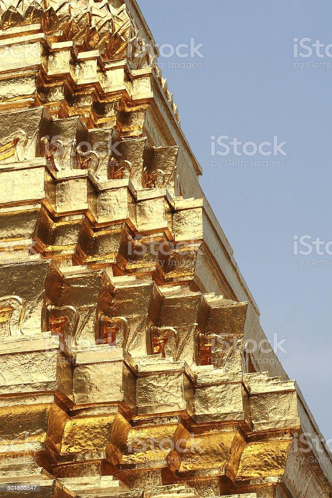 Golden Pagoda Detail stock photo