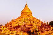 Golden pagoda in Bagan