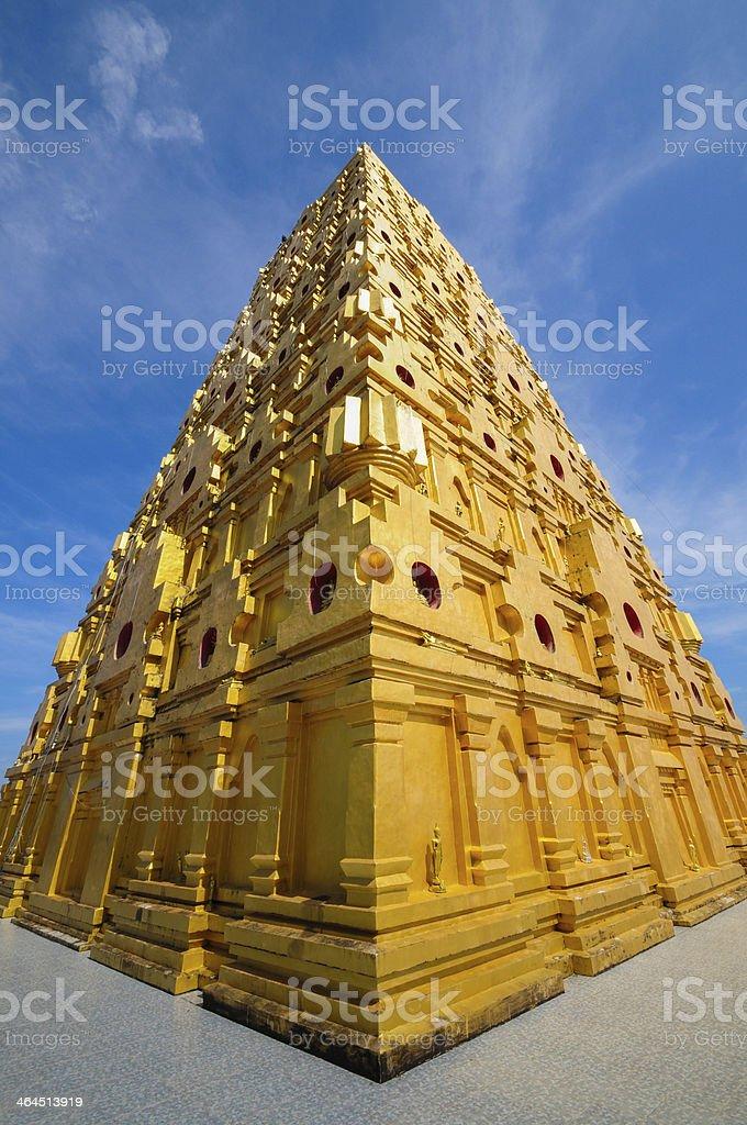 Golden Pagoda province of Kanchanaburi, Thailand royalty-free stock photo