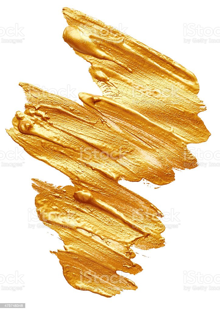 Golden paint stock photo