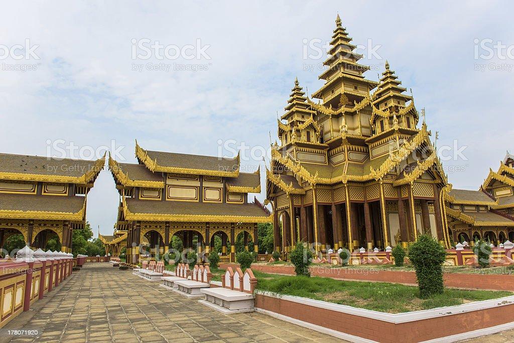 Golden Palace in Old Bagan, Mandalay, Burma royalty-free stock photo