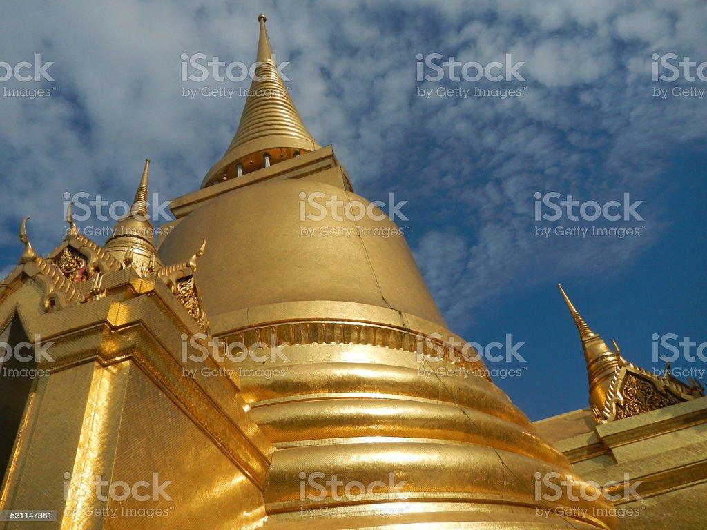 Golden Palace Stupa, Bangkok stock photo