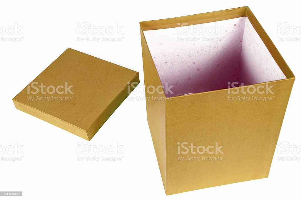 Golden Paper Box opened royalty-free stock photo