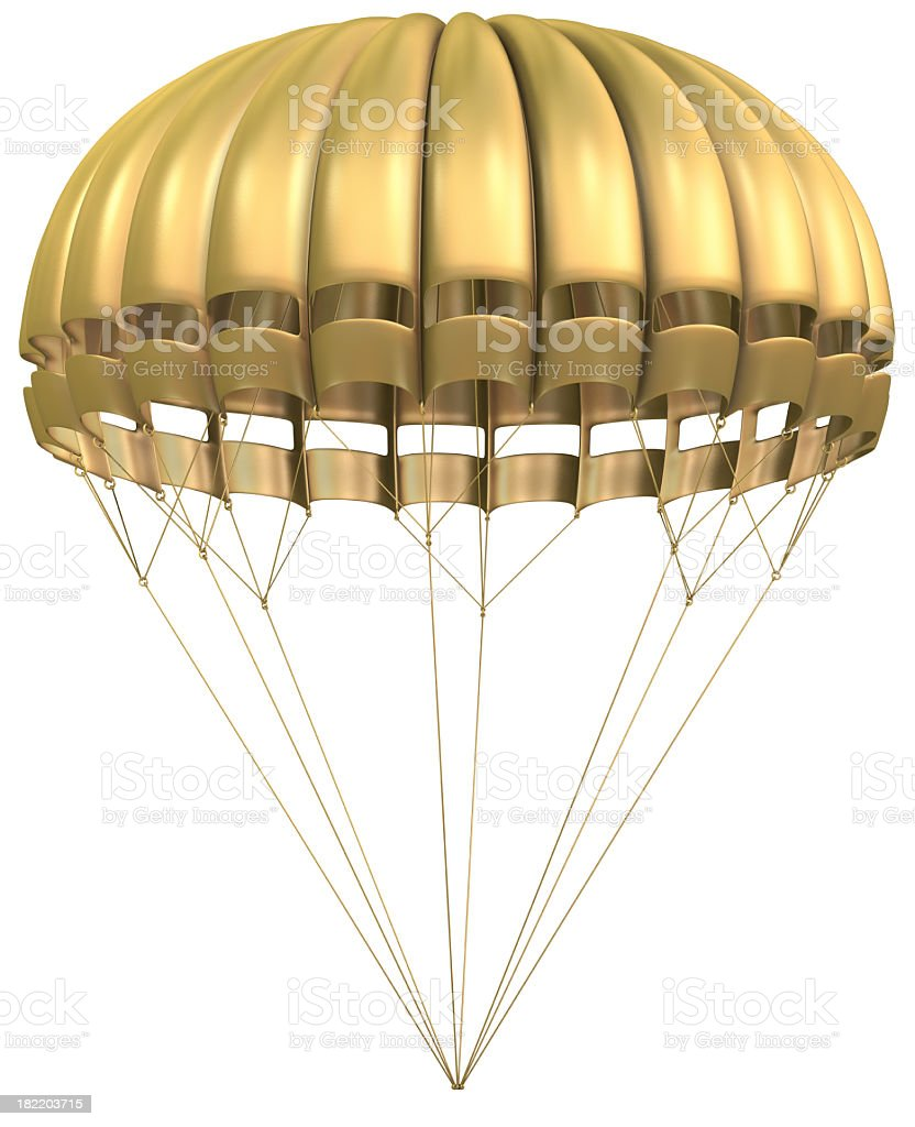 Golden Parachute royalty-free stock photo