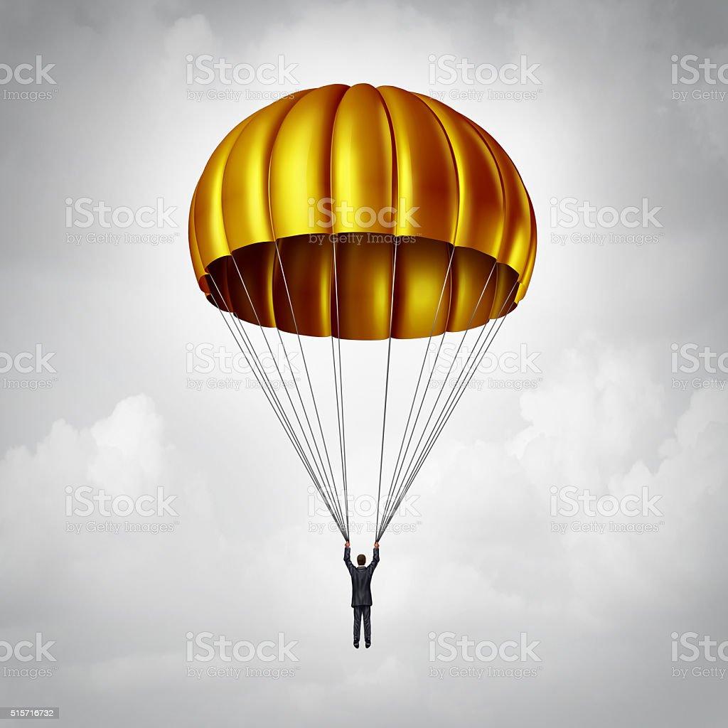 Golden Parachute stock photo