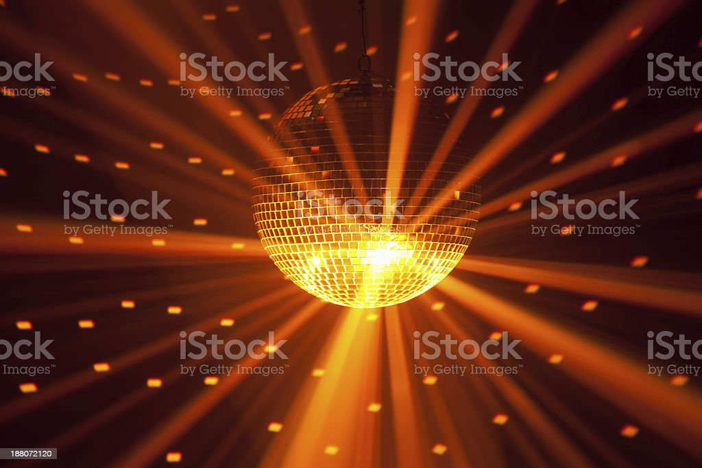golden party lights background stock photo