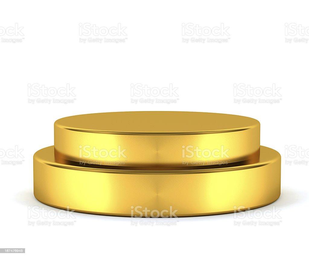 Golden pedestal - winner royalty-free stock photo