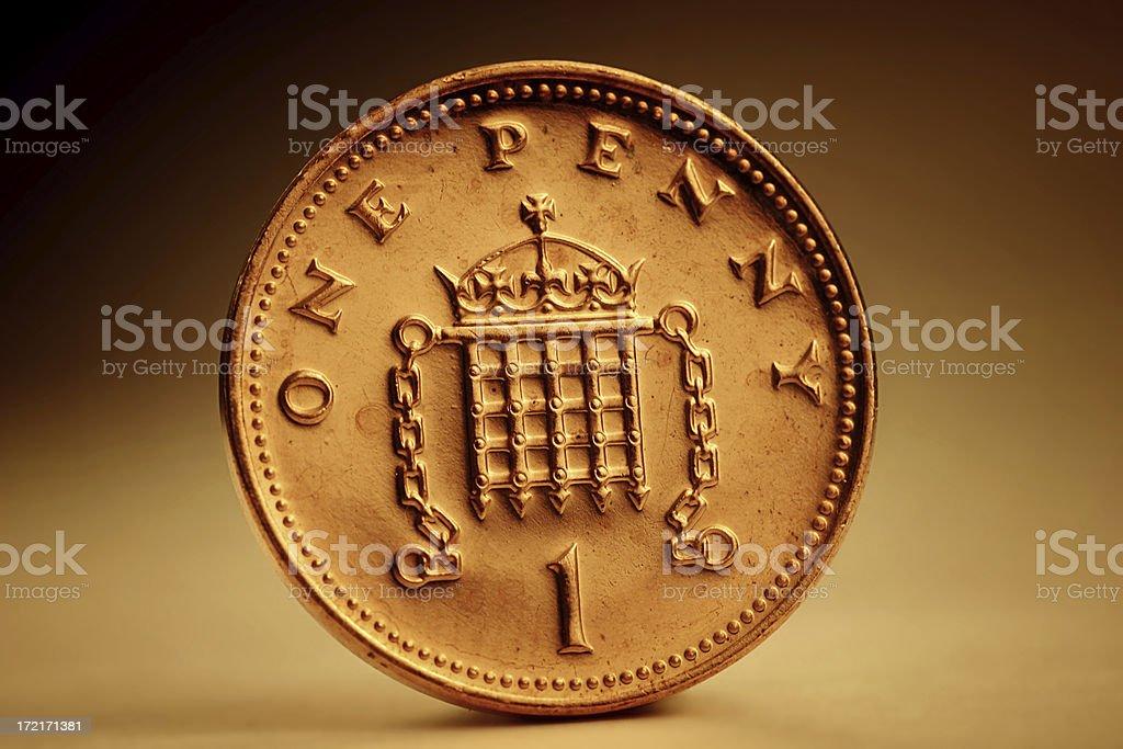 Golden Penny stock photo