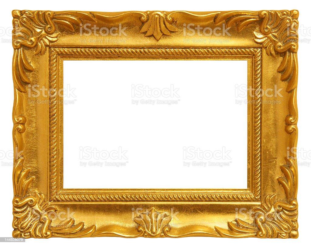 Cadre photo doré photo libre de droits