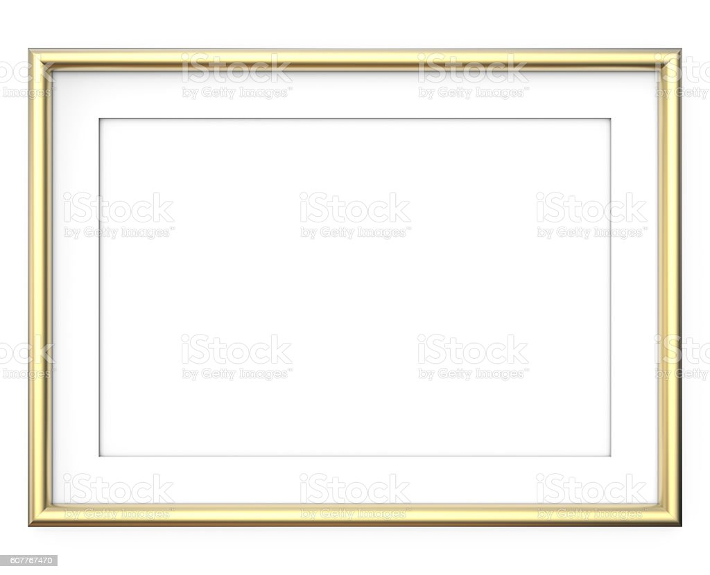 Golden Picture Frame. stock photo