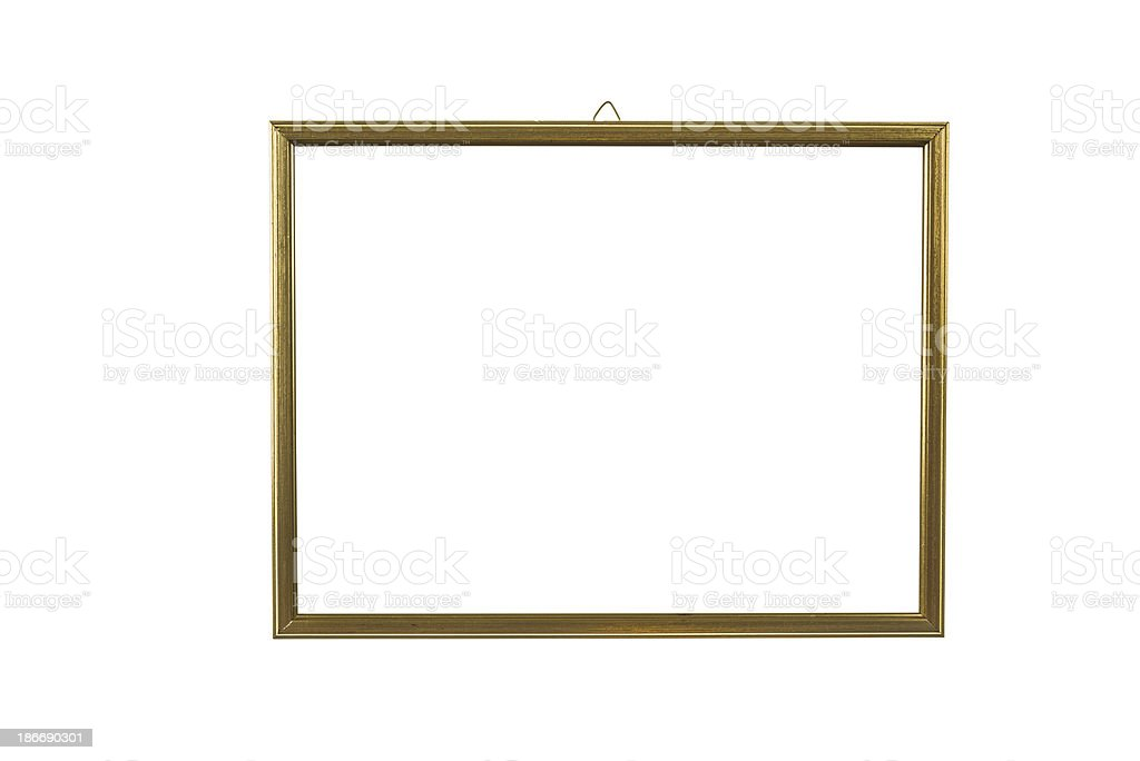 golden picture frame with gold leaf royalty-free stock photo