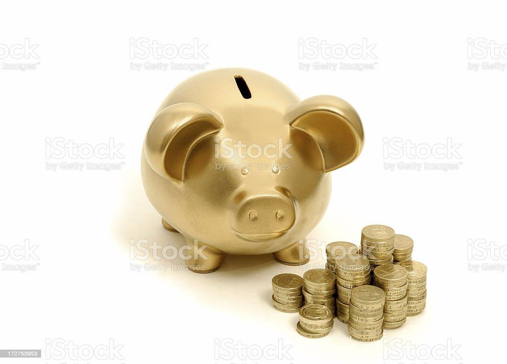 golden piggy royalty-free stock photo
