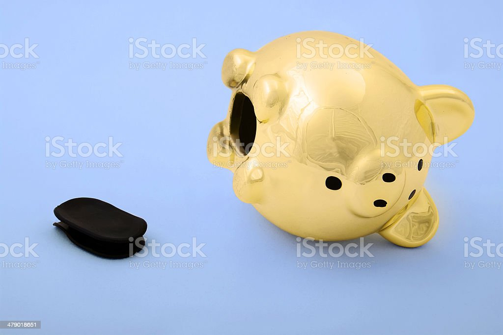 golden piggy royalty-free stock photo