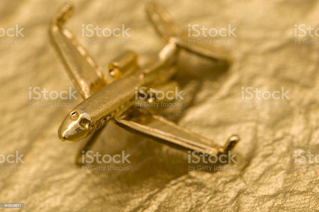 Golden Plane royalty-free stock photo