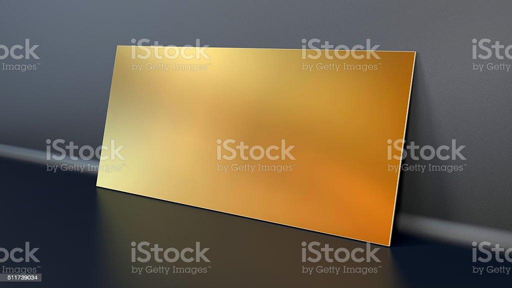 golden plank stock photo