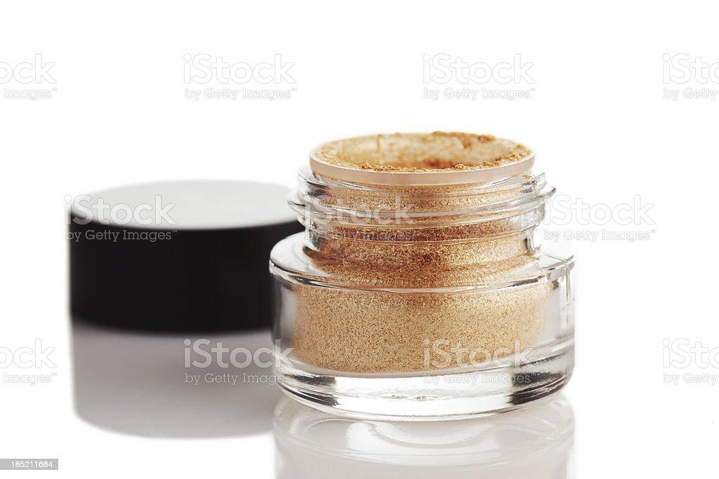 Golden powder eye shadow royalty-free stock photo