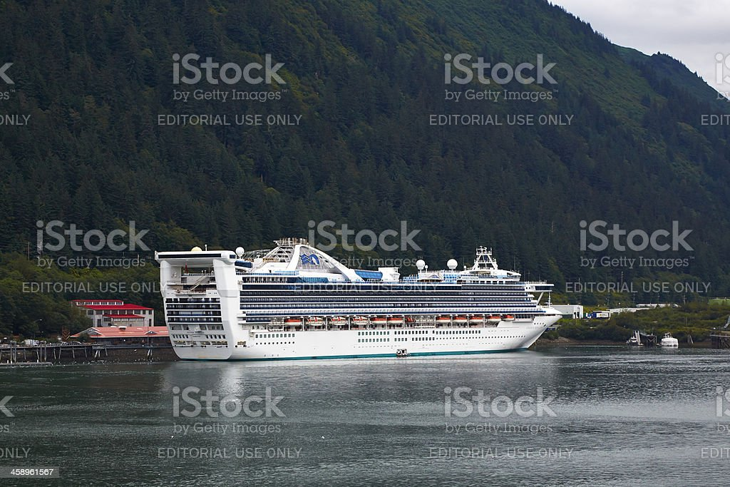Golden Princess Cruise Ship, Juneau Alaska royalty-free stock photo