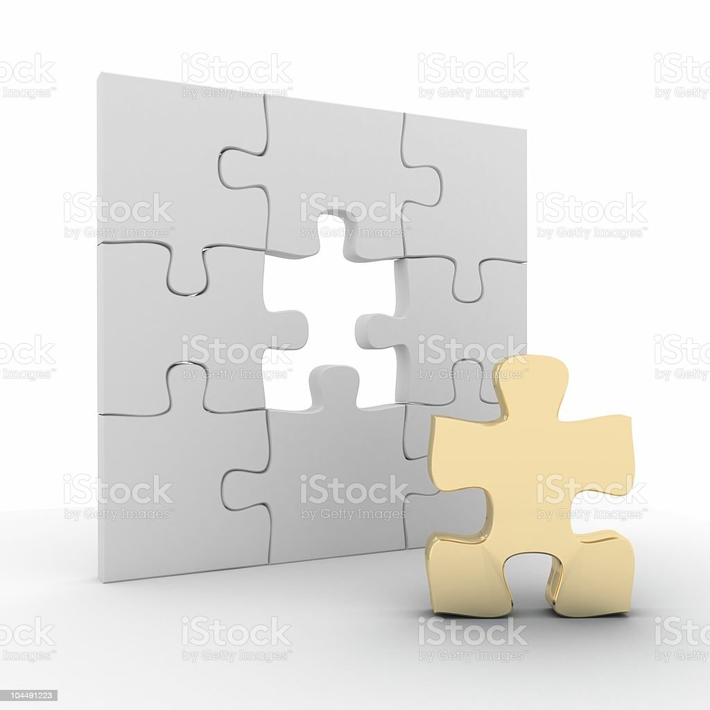 Golden Puzzle royalty-free stock photo