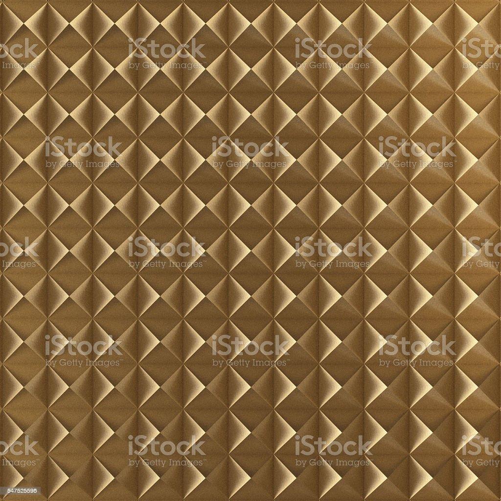 Golden Pyramid pattern. 3D Render. stock photo