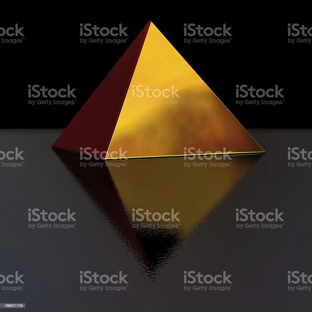 golden pyramid stock photo