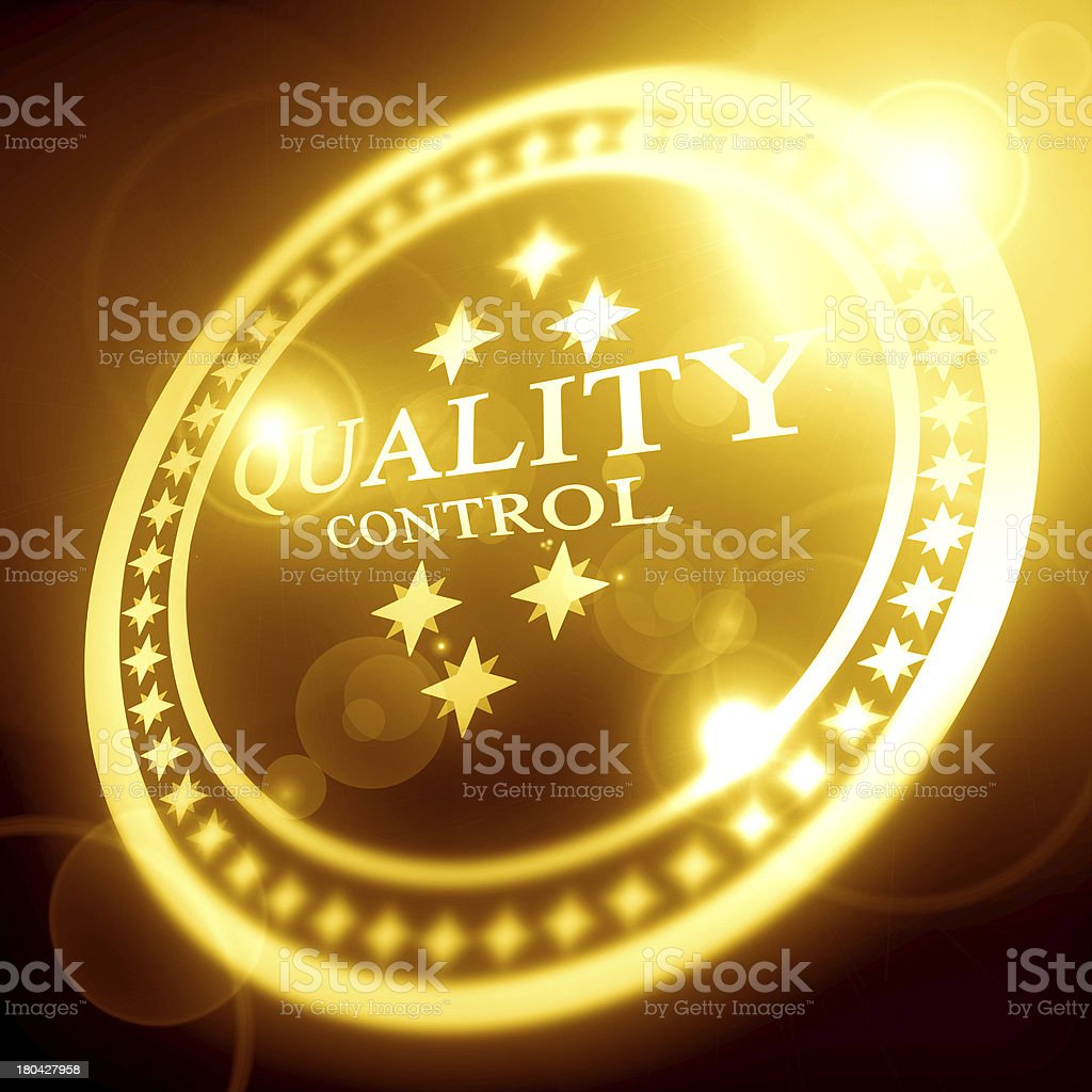 golden quality control stamp royalty-free stock photo