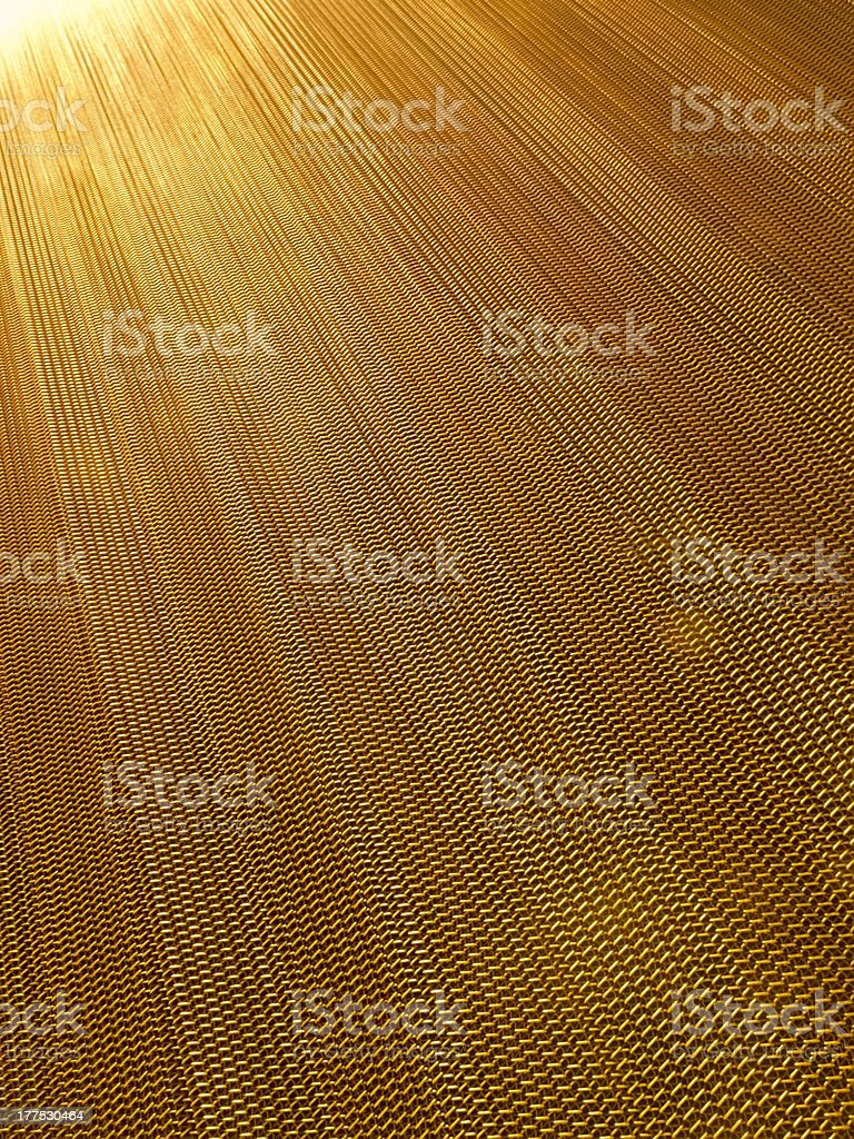 Golden radiance of chain links royalty-free stock photo
