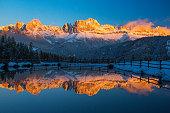 Golden reflection at Catinaccio