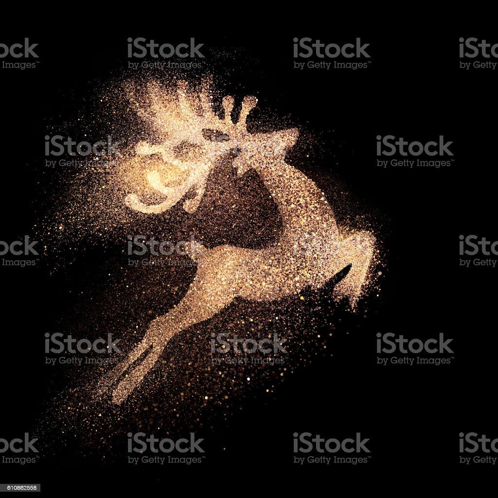 Golden reindeer stock photo