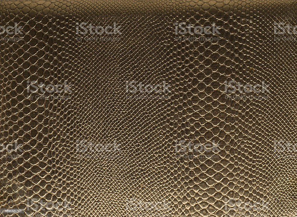 Golden reptile leather  Snake skin stock photo