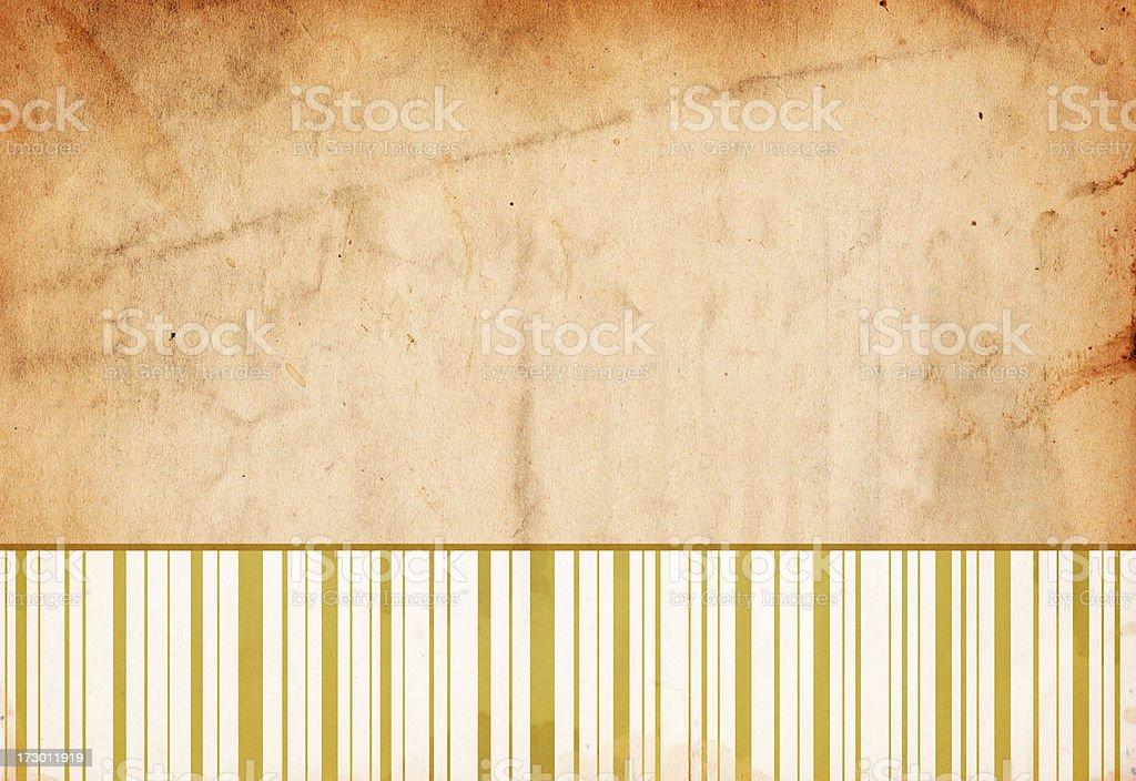 Golden Retro-Pattered Paper XXXL royalty-free stock photo