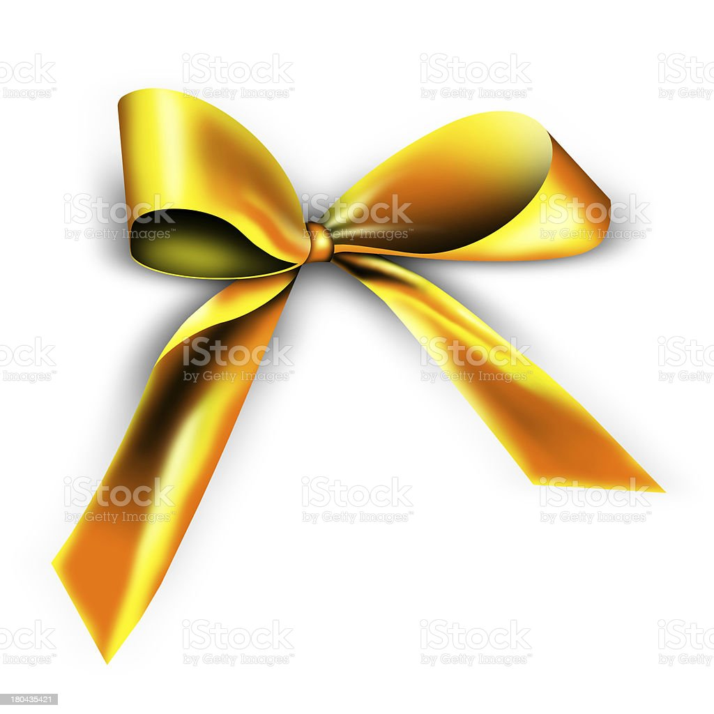 golden ribbon for a gift royalty-free stock photo