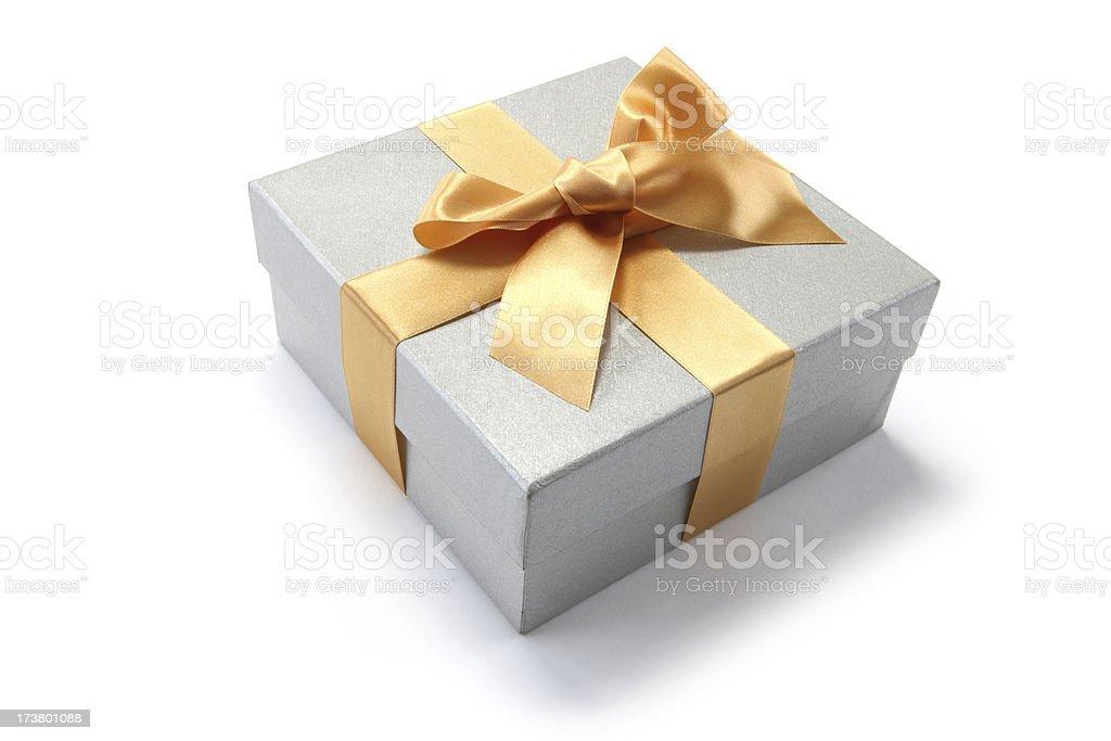 Golden Ribbon Gift royalty-free stock photo