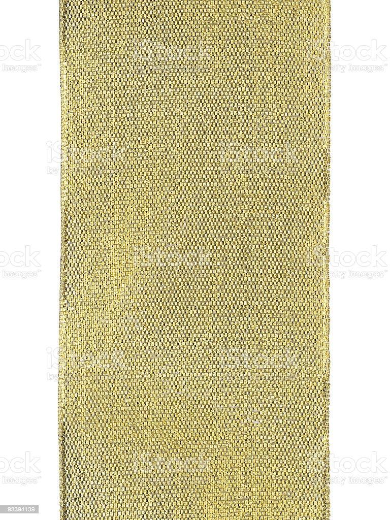Golden ribbon texture, isolated on white stock photo