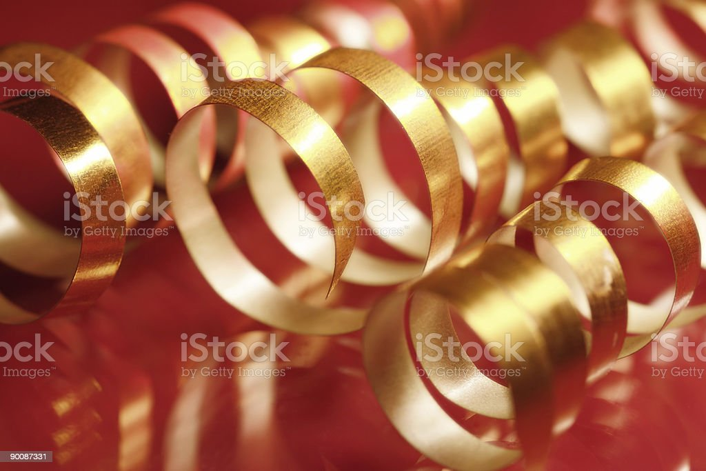 Golden ribbons royalty-free stock photo