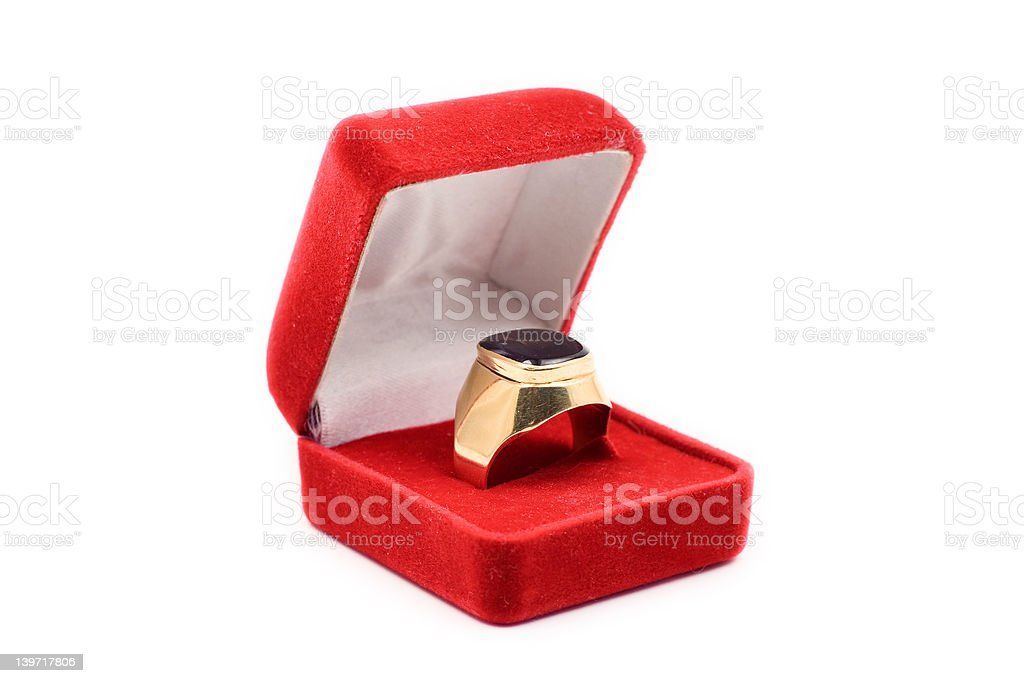 Golden ring royalty-free stock photo