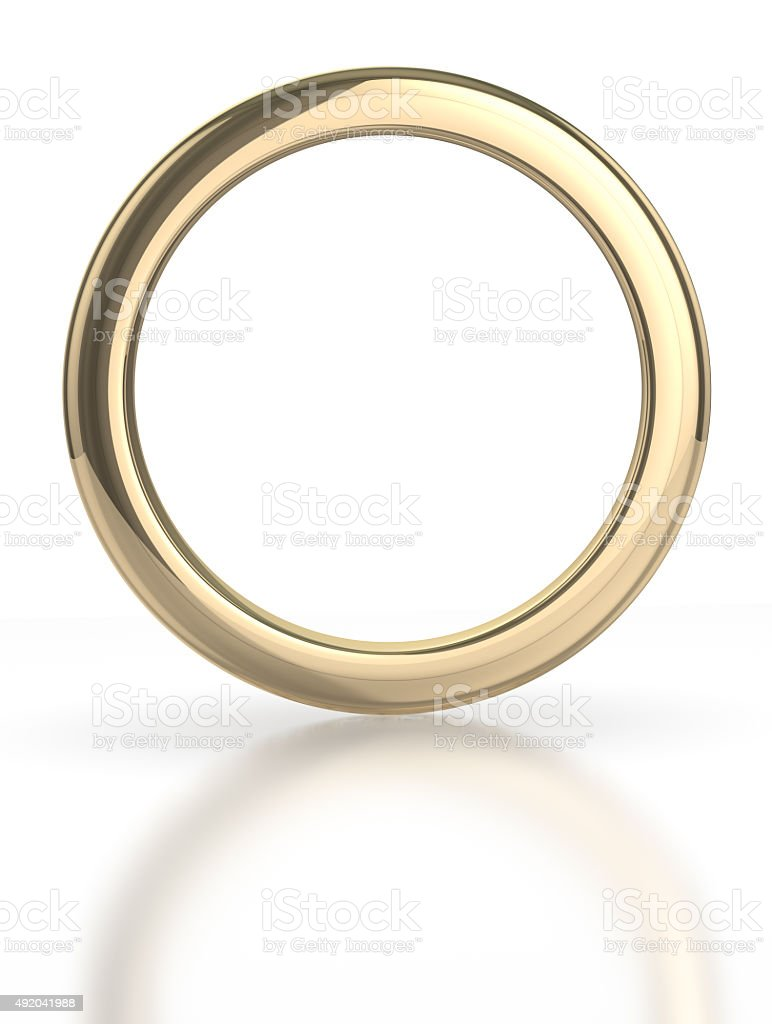 Golden ring vector art illustration