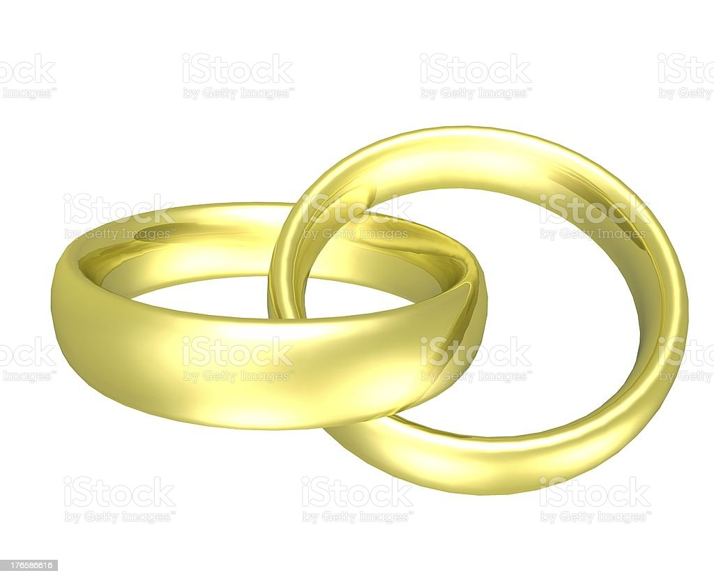golden rings royalty-free stock photo