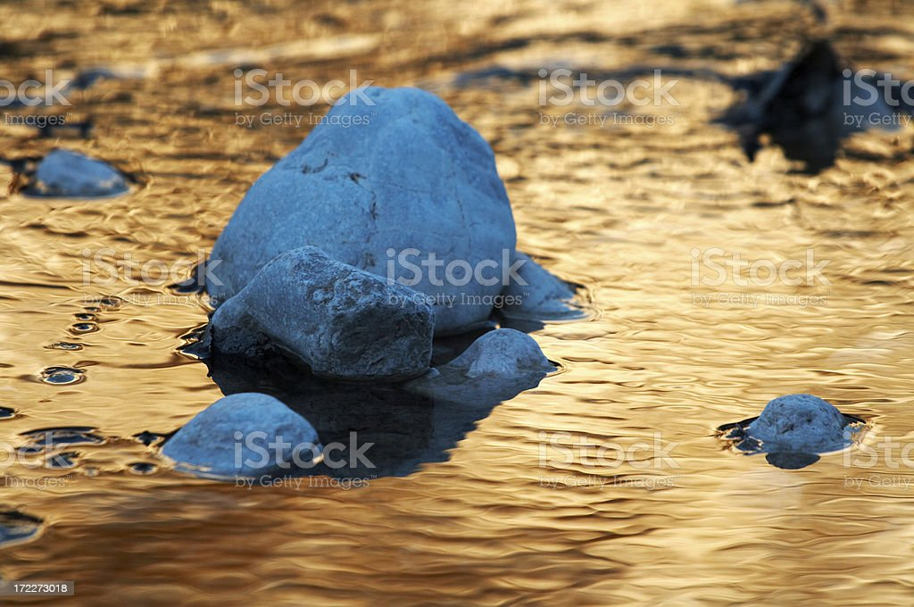 golden river royalty-free stock photo