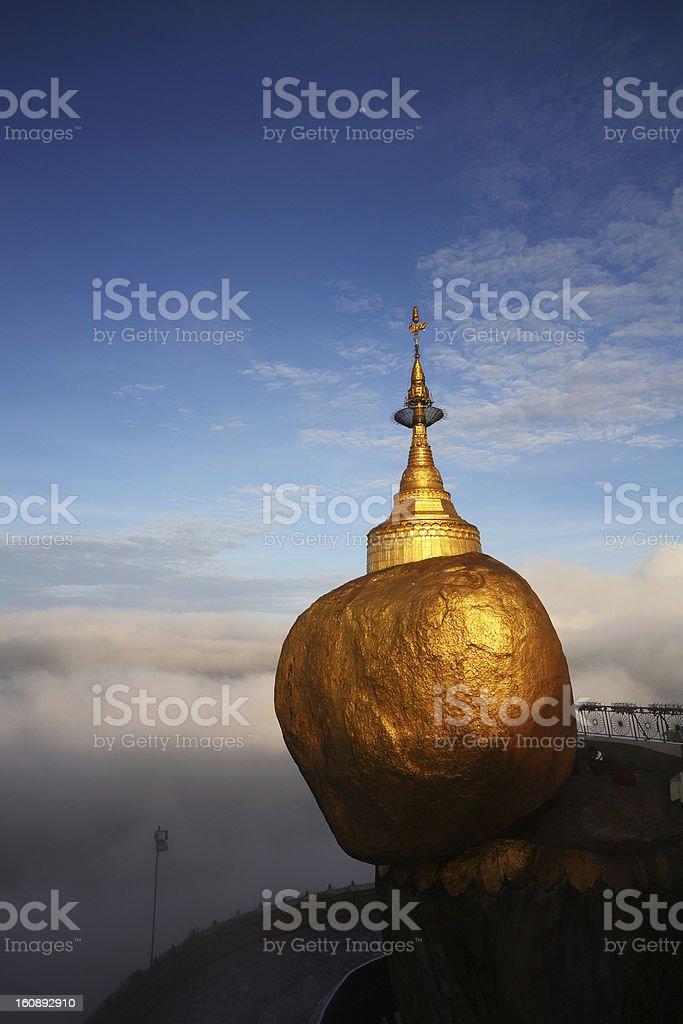 Golden rock, Kyaiktiyo (Vertical) royalty-free stock photo